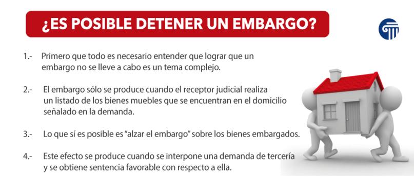 detener un embargo
