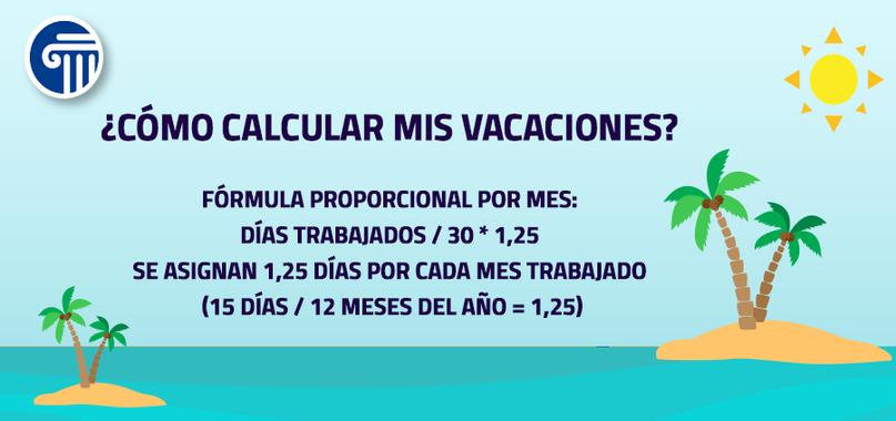 calculo de vacaciones legales