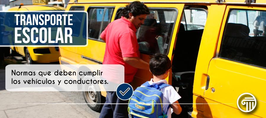 Normas transporte escolar