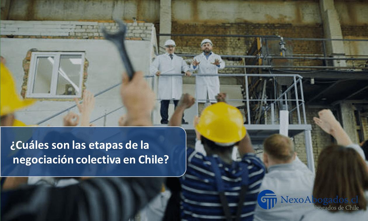¿Cuáles son las etapas de la negociación colectiva en Chile?